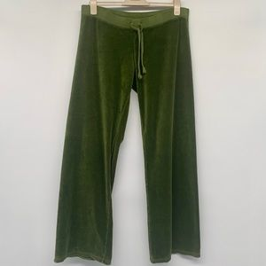 Juicy Couture Green Velour Drawstring Pants